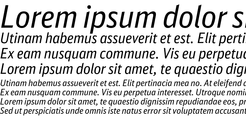 Sample of DB Sans Cond Altern Regular Italic