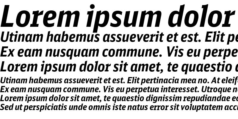 Sample of DB Sans Cond Bold Italic