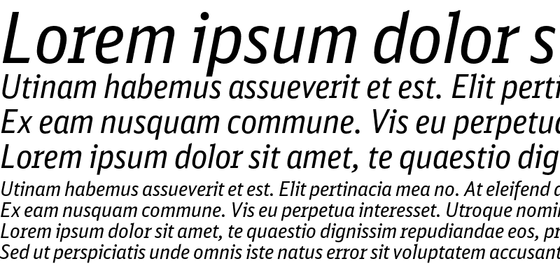 Sample of DB Sans Cond Regular Italic