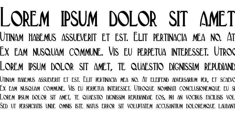 Sample of Deco-Condensed