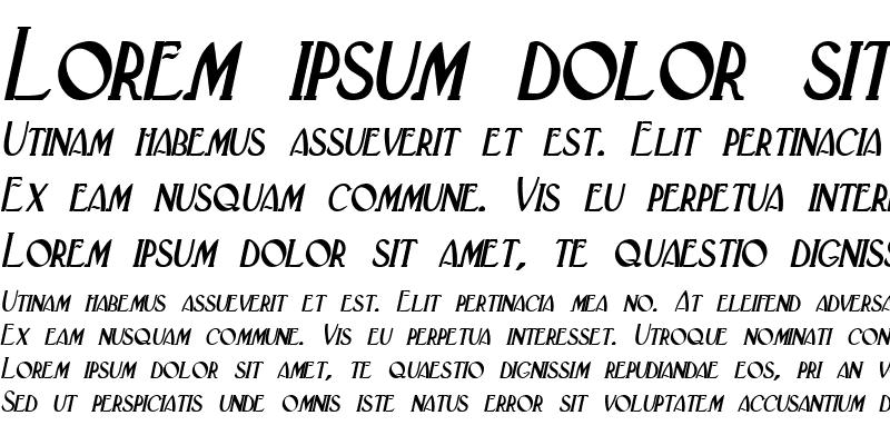 Sample of Deco Italic
