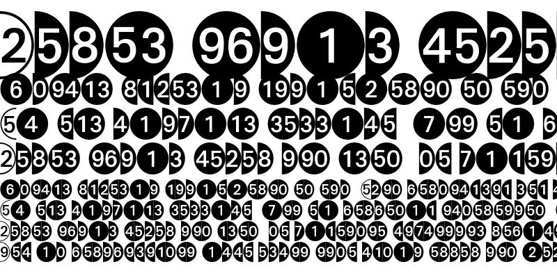 Sample of DecoNumbers LH Circle