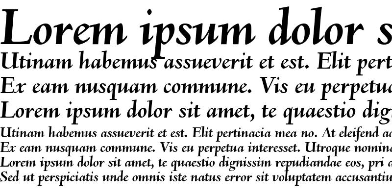 Sample of Deepdene BQ ItalicBold