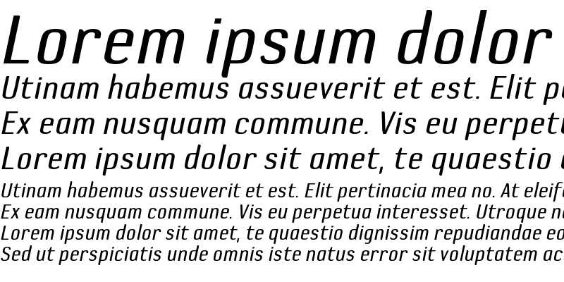 Sample of DefaultGothic-BGauge Italic