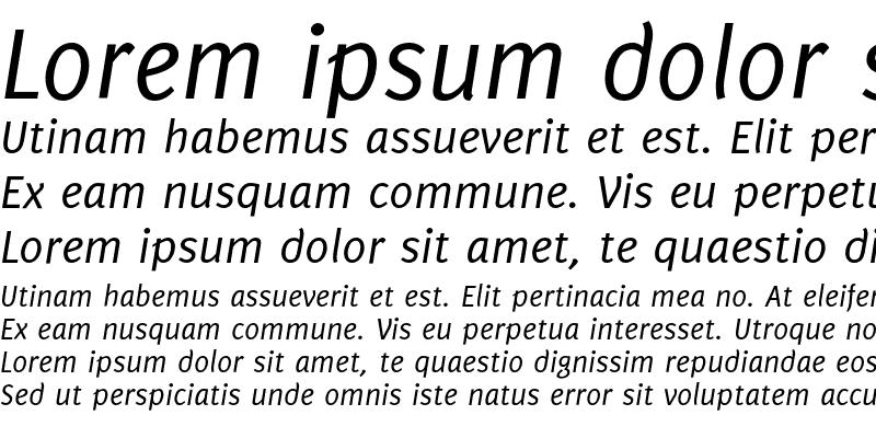 Sample of Delicious Italic