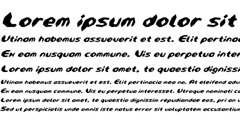 Sample of Detonator Condensed Italic