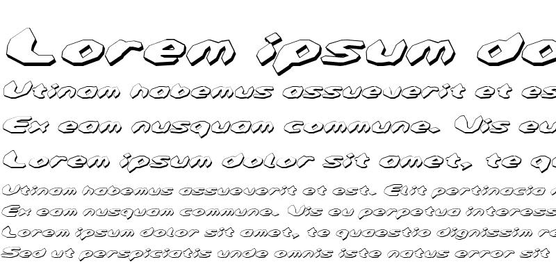 Sample of Detonator Shadow Italic