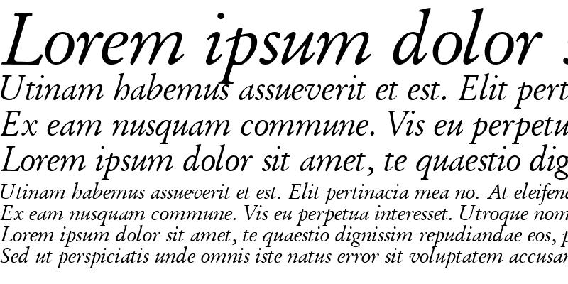 Sample of DeutchGaramondOSSSK Italic