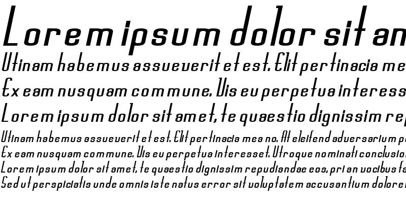 Sample of Devon Bold Italic
