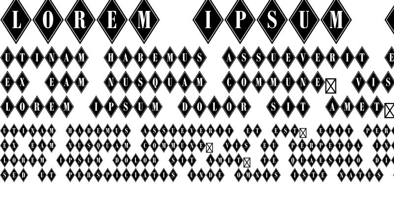 Sample of Diamond Bodoni Std Regular
