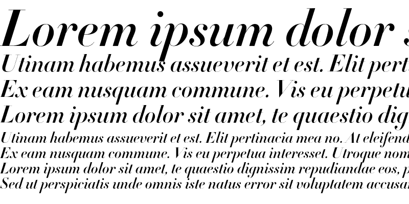 Sample of Didot HTF-B64--Ital Bold