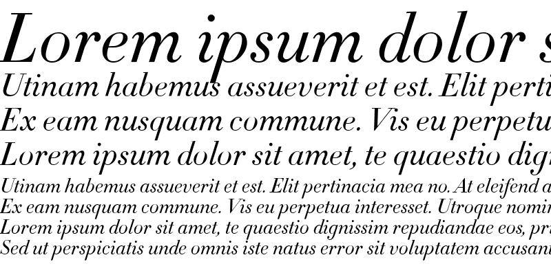 Sample of Didot Medium Italic