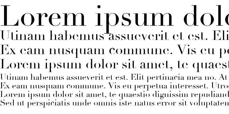 Sample of Didot Regular