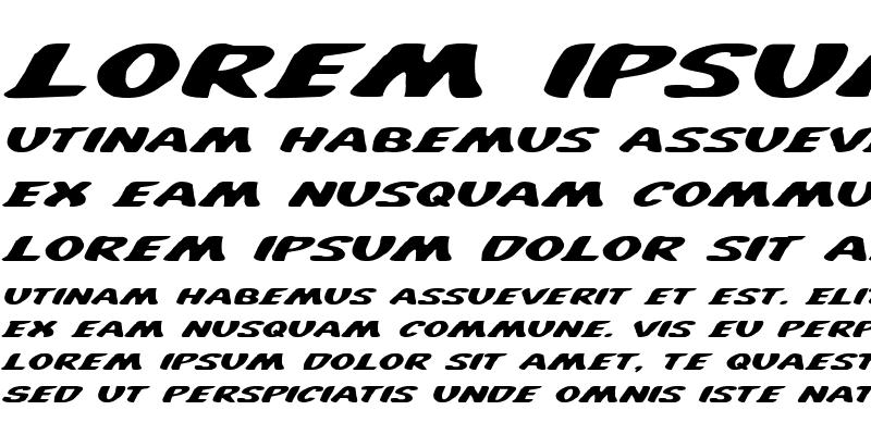 Sample of DiegoCon DiegoCon Italic