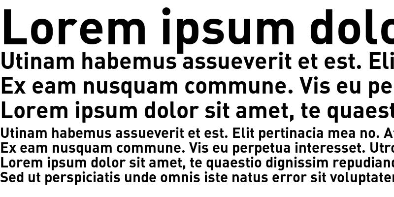 Sample of DIN Alternate Bold