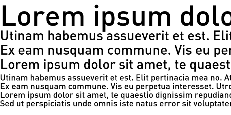 Sample of DIN Alternate Medium