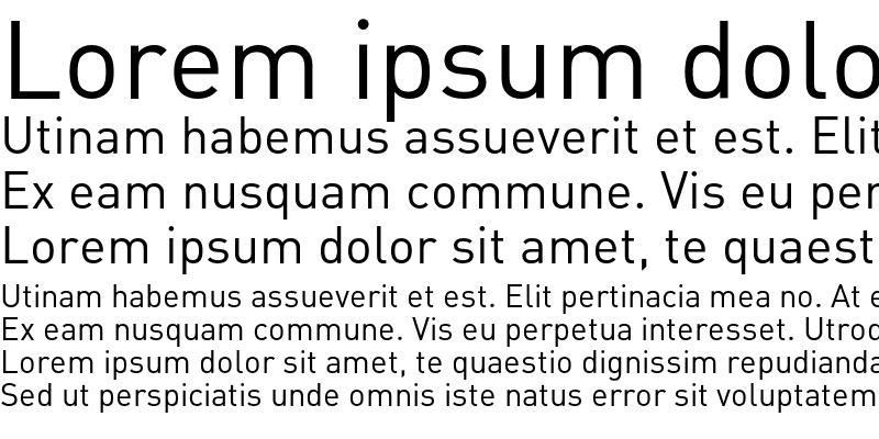 Sample of DIN Alternate Regular