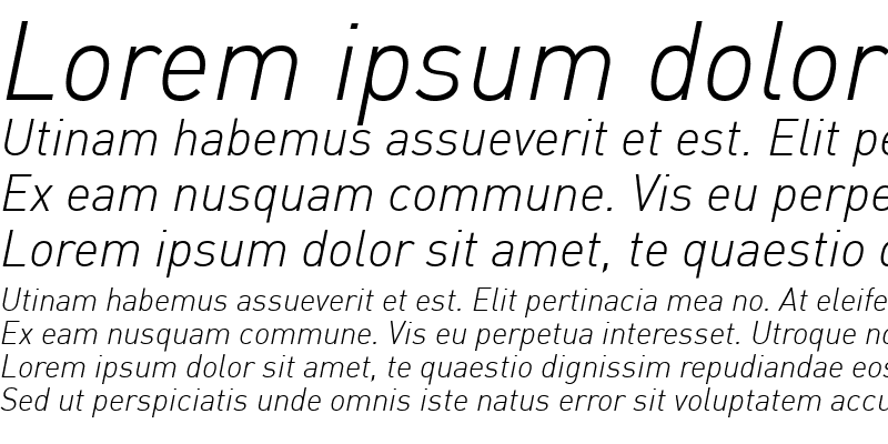 Sample of DIN-LightItalic