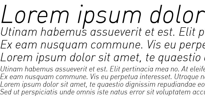 Sample of DIN-LightItalicAlt