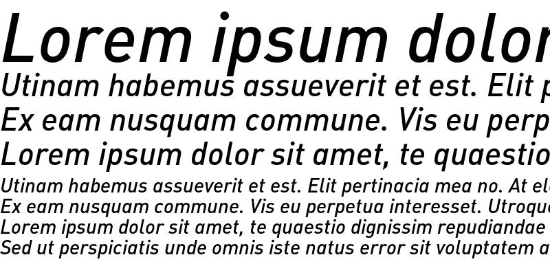 Sample of DIN-MediumItalicAlt Regular