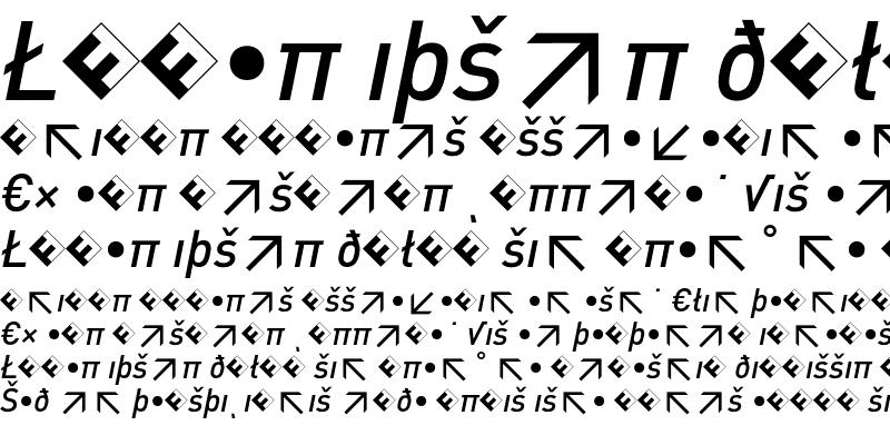 Sample of DIN-MediumItalicExp
