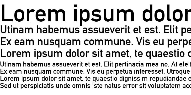 Sample of DIN Schrift