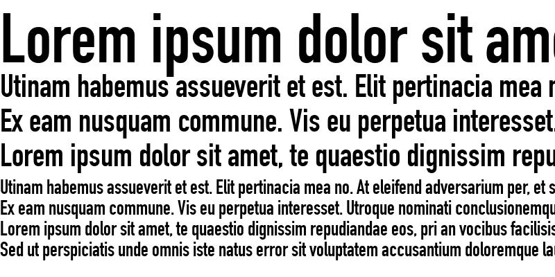Sample of DINEngschrift LT