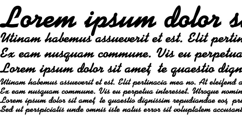 Sample of DinerScript Bold
