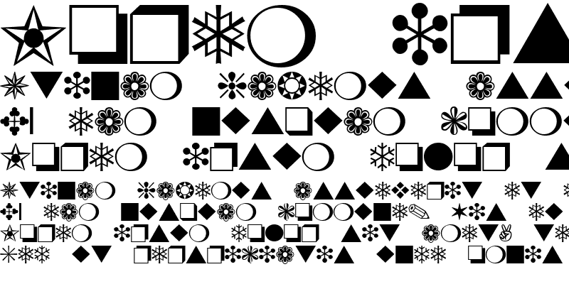 Sample of Dingbats One