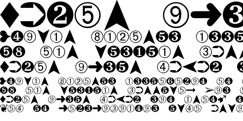 Sample of Dingbats Two Regular
