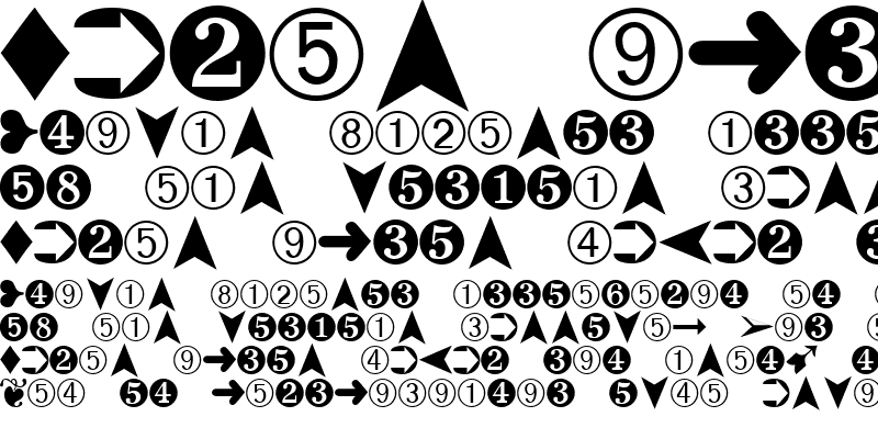 Sample of Dingbats2 Regular