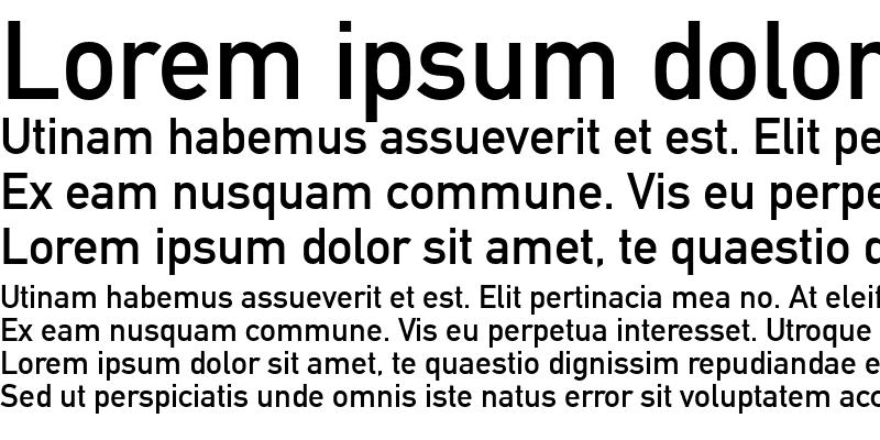 Sample of DINMittelschrift LT Alternate
