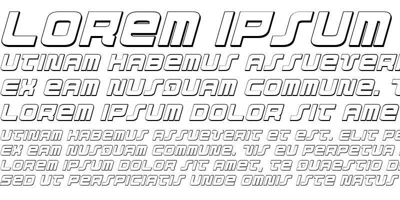 Sample of Direktor 3D Italic