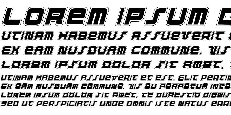 Sample of Direktor Academy Italic