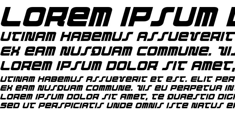 Sample of Direktor Italic
