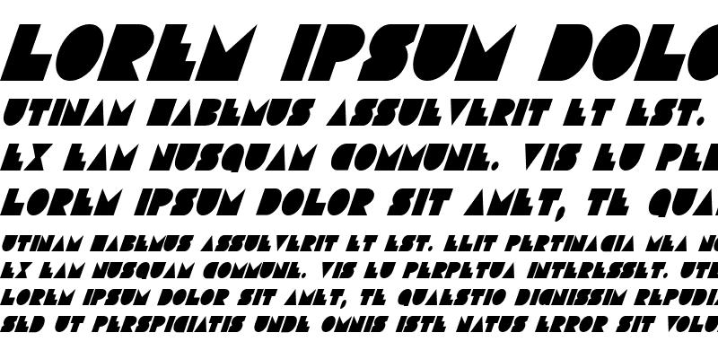 Sample of Disco Deck Condensed Italic Condensed Italic