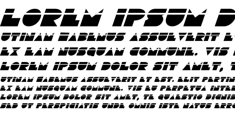 Sample of Disco Deck Laser Italic