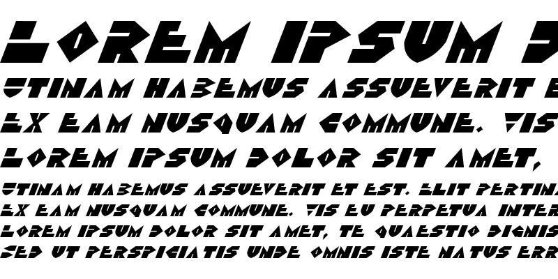 Sample of Disco Dork Italic