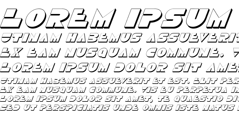 Sample of Disco Duck 3D Italic