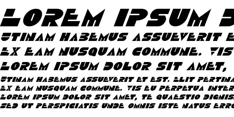 Sample of Disco Duck Italic