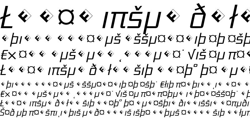 Sample of District-LightItalicExp