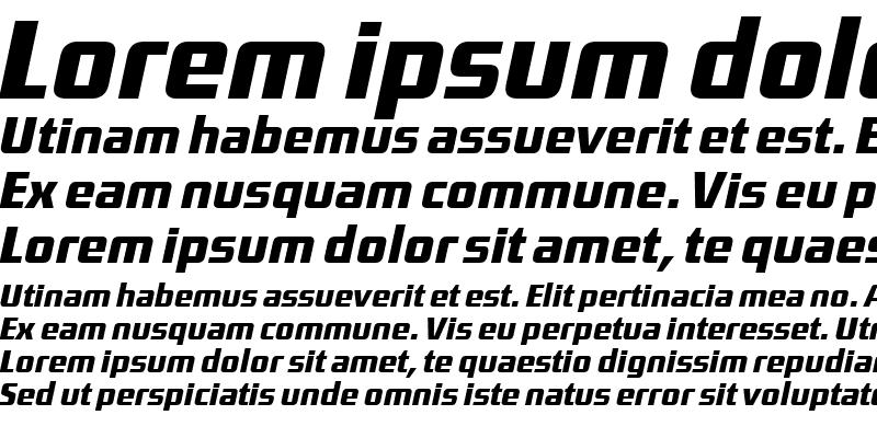 Sample of District-MediumItalic