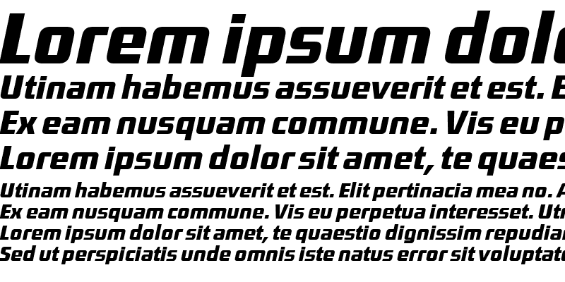 Sample of DistrictTF-MediumItalic