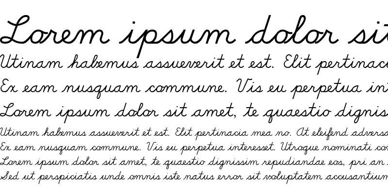 Sample of DN Cursive