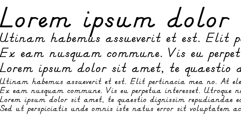 Sample of DN Manuscript Bold Regular