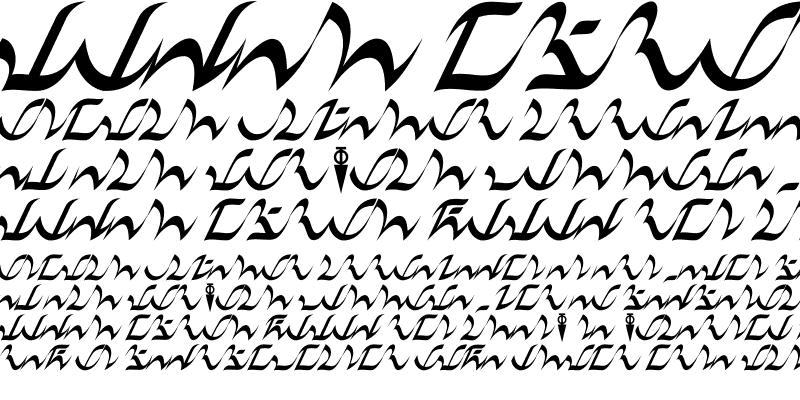 Sample of D'ni Script LM