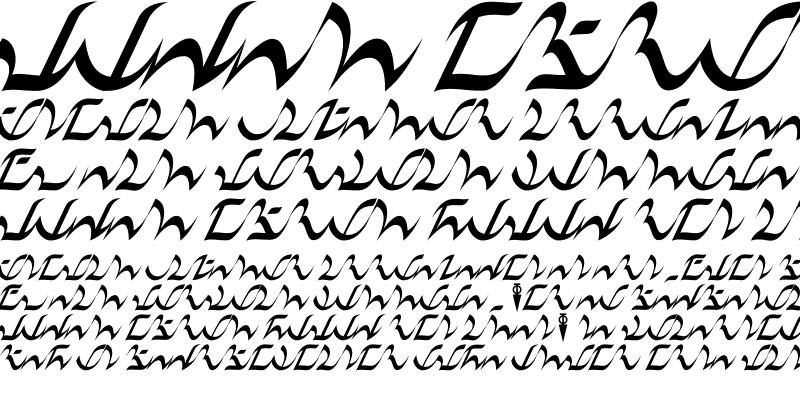 Sample of D'ni Script Regular