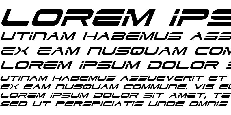 Sample of Dodger Italic