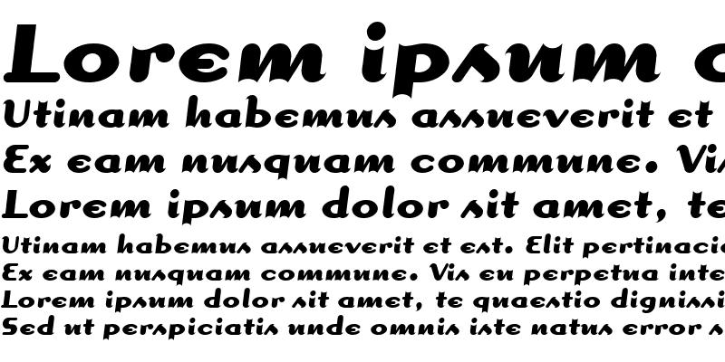 Sample of Dogma Script Bold Regular