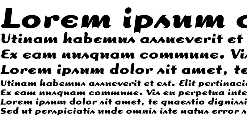 Sample of Dogma Script Bold
